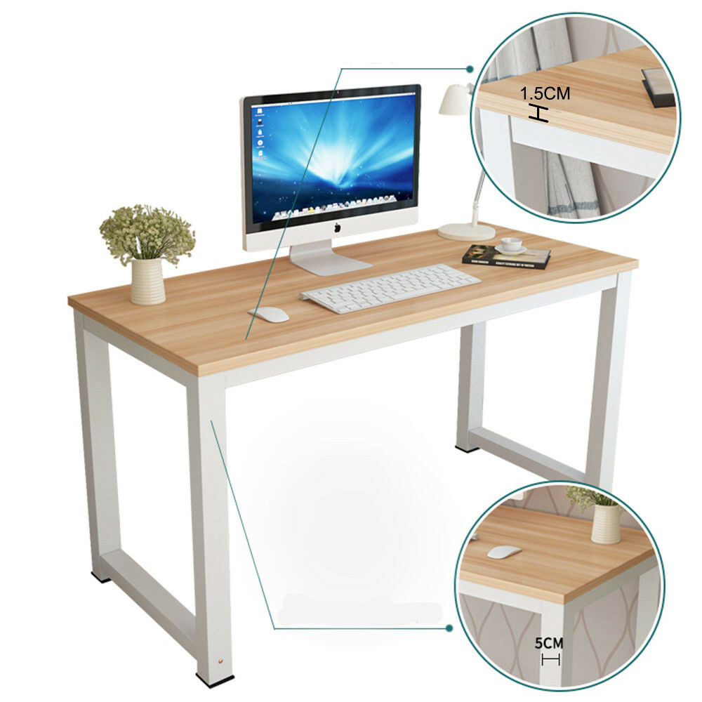 PC Computer Desk Writing Study Table Office Executive Home Desktop Wood /& Metal