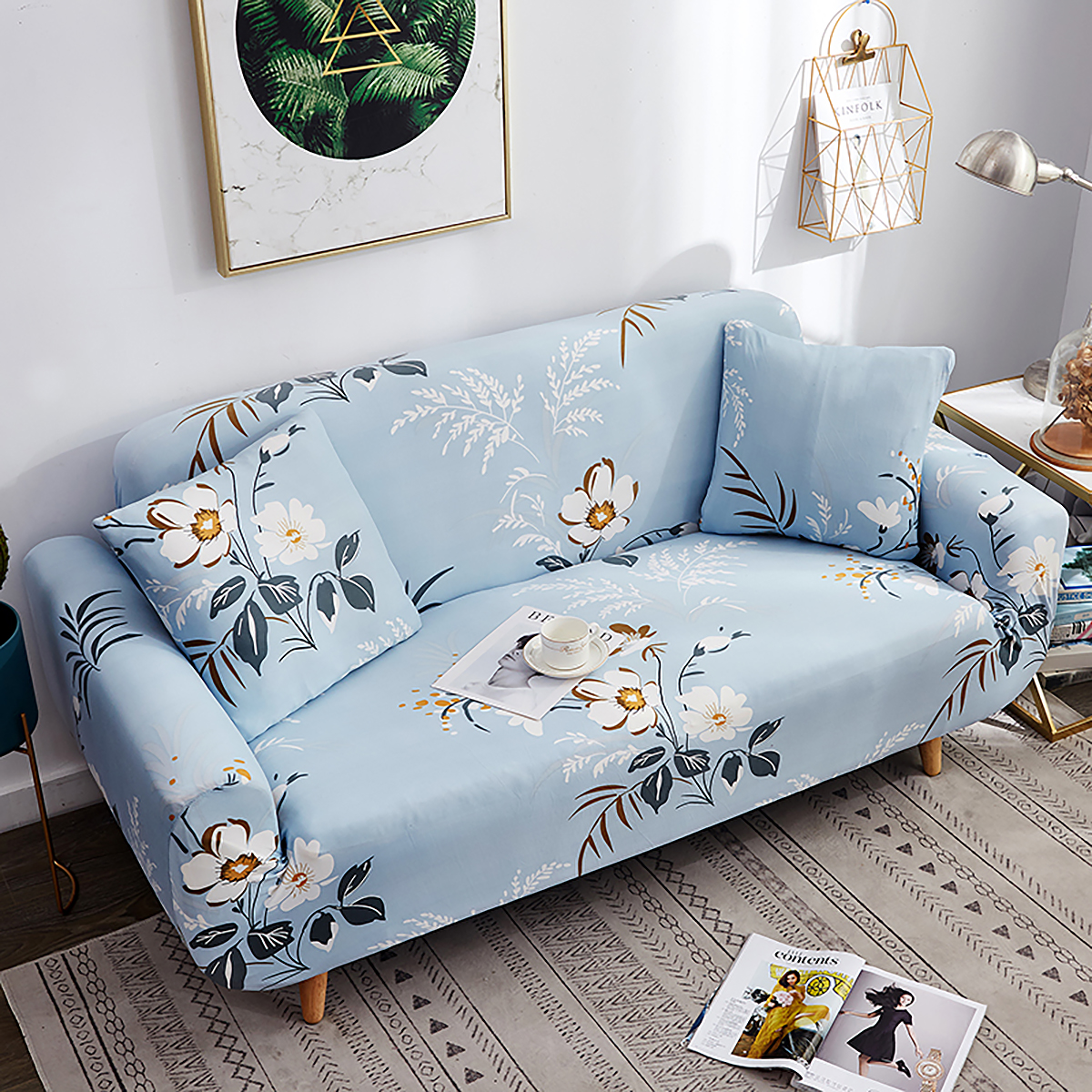 Sofa Covers 1//2//3//4 Seater Settee Stretch Lounge Slipcover Chair Protector Couch