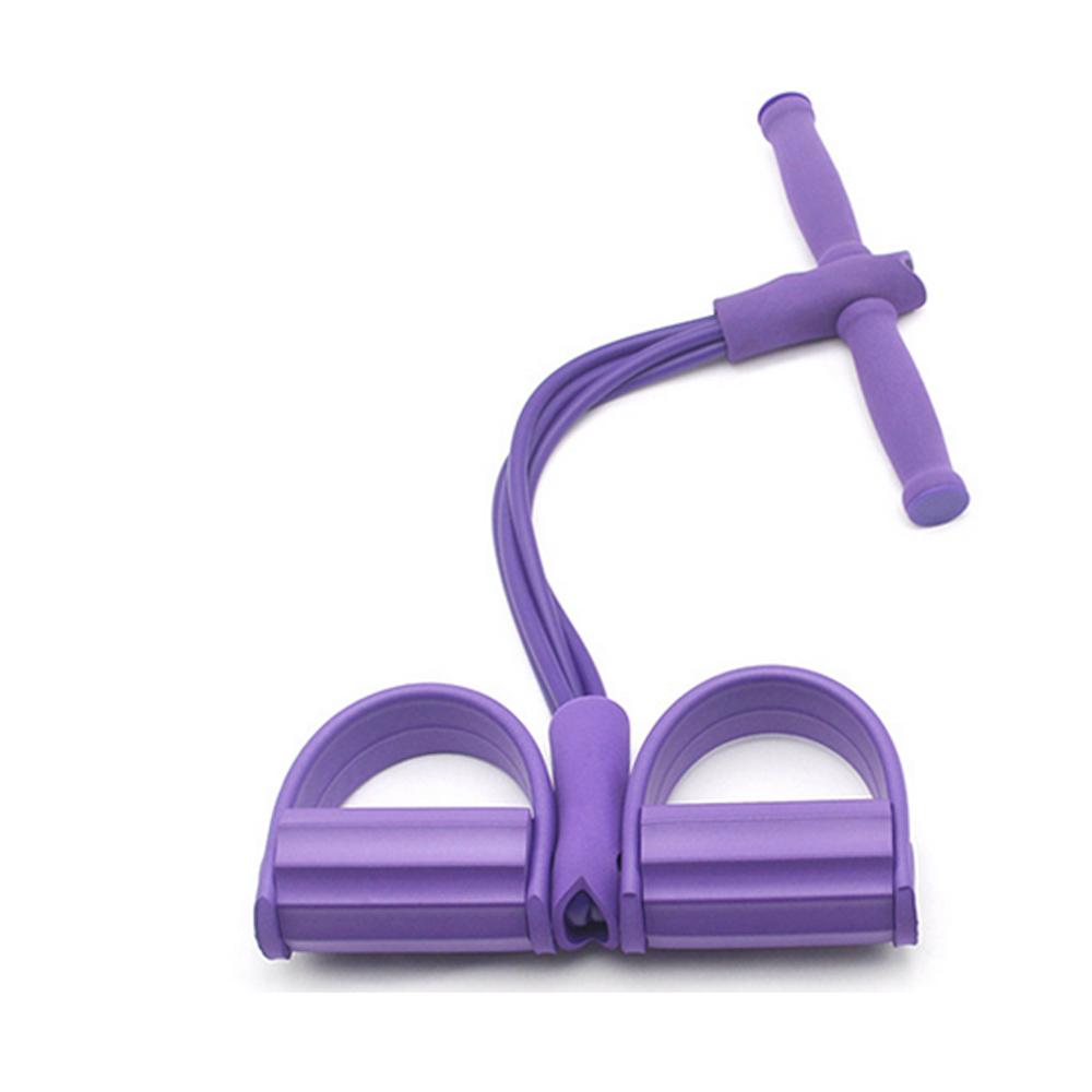 Sit-Up Trainingsgeräte Gymnastikbänder Fußpedal 4-Rohr-Zugseil Widerstandsband