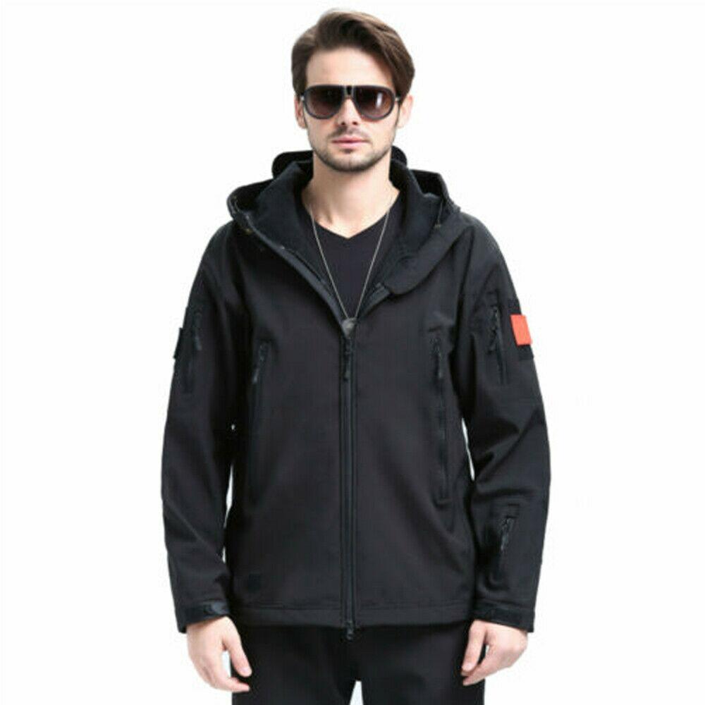 UK Men Outdoor Waterproof Winter Jacket Coat Soft Shell Tactical Military Jacket