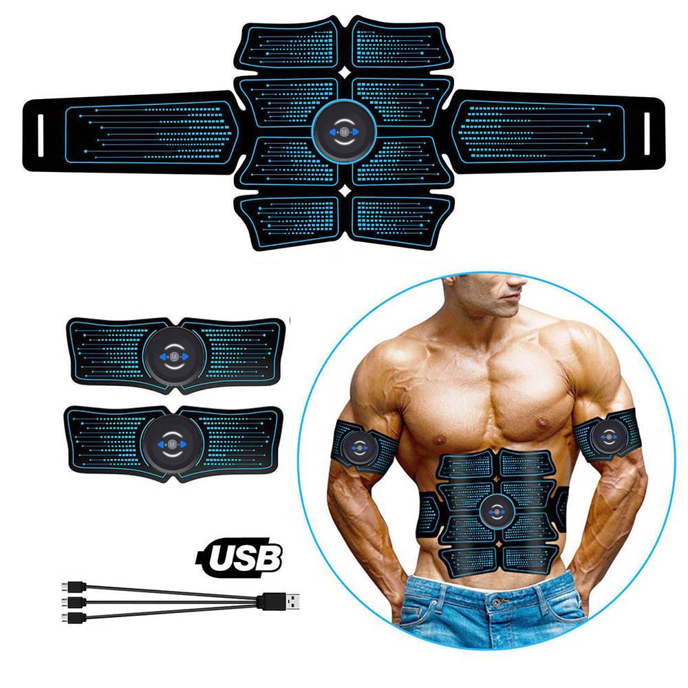 EMS Abdominal Muscle Toning Trainer ABS Stimulator Toner Fitness Gym Belt 6//8Pad