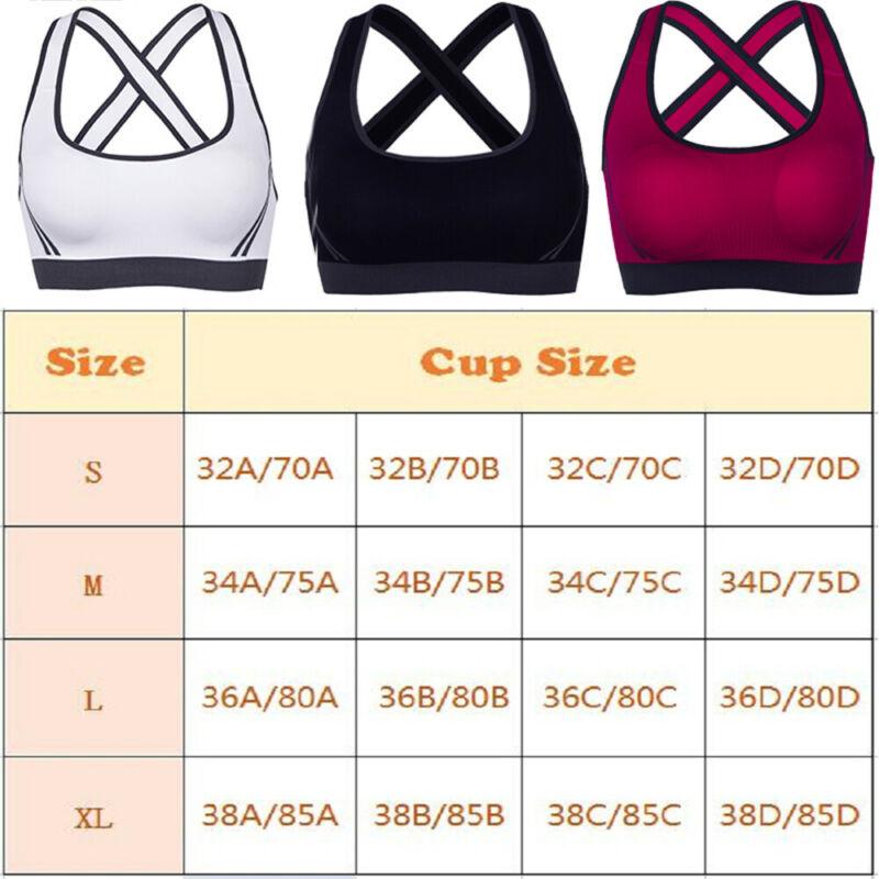 Women Sports Bra Ultimate Medium Impact Padded Impact Racerback Fitness Vest Top