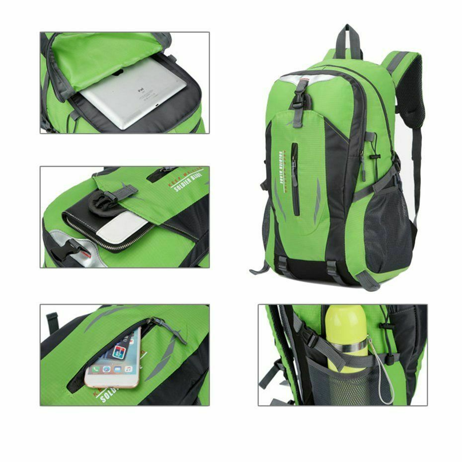 40L Large Waterproof Outdoor Sports Bag Backpack Travel Hiking Camping Rucksack