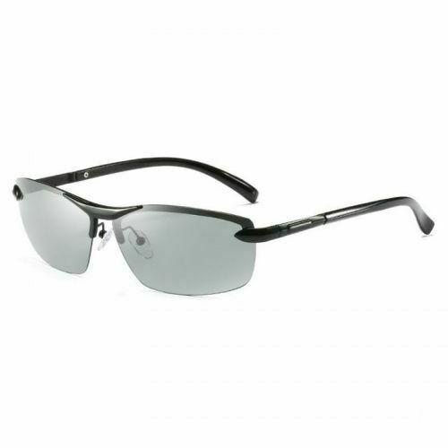 Photochromic Polarized Men Sunglasses Glasses Len Goggles Sports Driving Outdoor