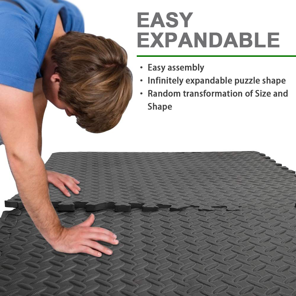 8-36 EVA Foam Mat Gym Floor Interlocking Exercise Yoga Kids Play Mat 12MM Thick