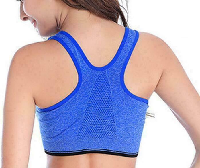 UK Women/'s Lady Padded Sports Bra Tops Vest Gym Fitness Yoga Running Shaper Lot