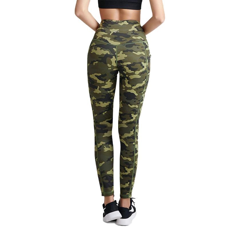 Femme Taille Haute Gym Leggings Poche Fitness Sports Running Leopard Yoga Pantalon
