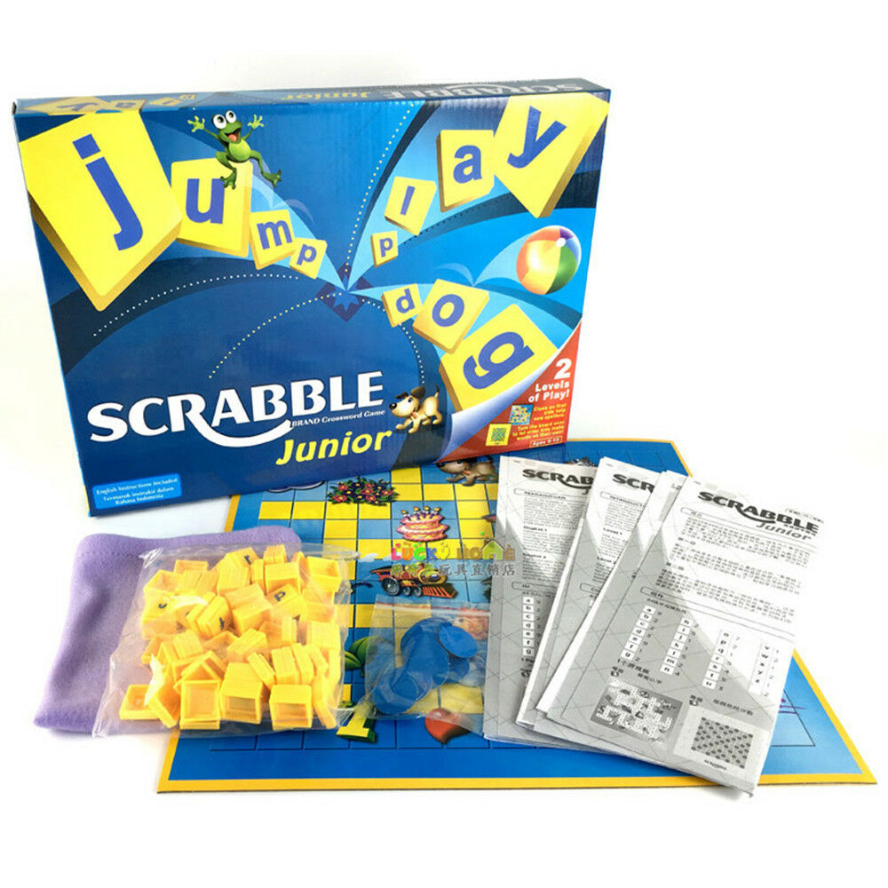 Familiy Gathering Game Junior Version Scrabble Board Game Funny Fun Toys Gift UK