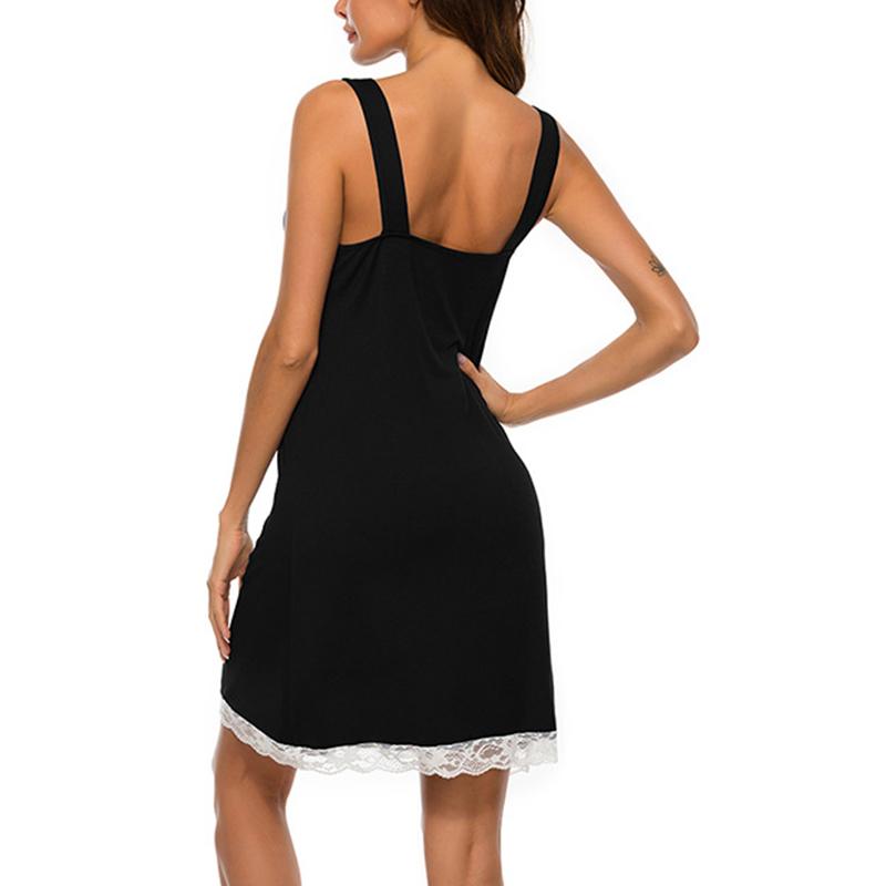 Ladies Summer Nightdress Strappy Nightie Womens Lace Mini Nightwear Sleepwear