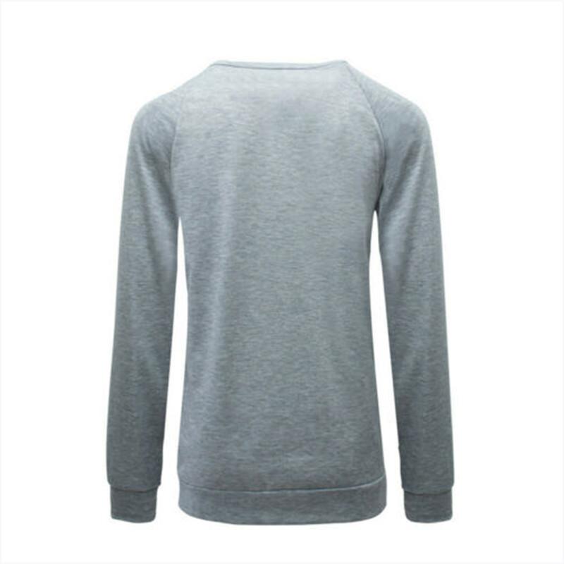 Womens Hooded Sweatshirts Ladies Heart Print Hoodies Tops Jumper Pullover Blouse