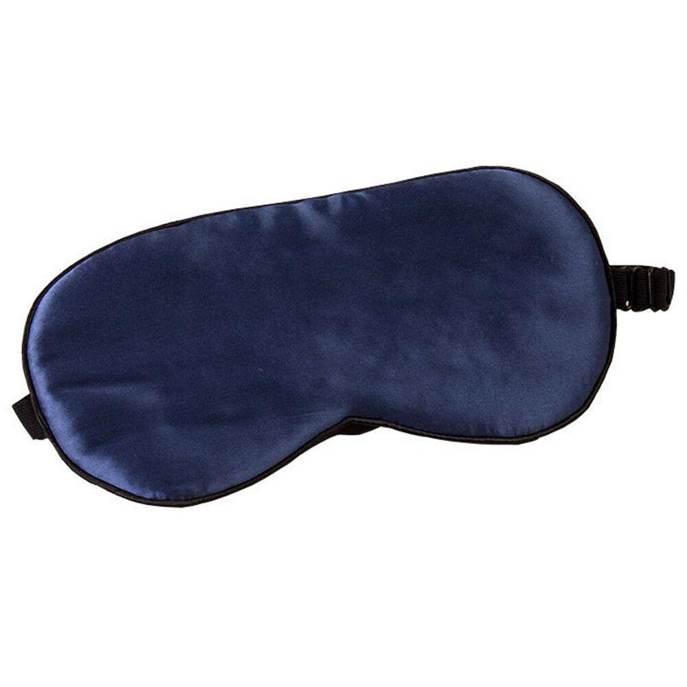 UK Soft Silk Eye Mask Blindfold Blackout Travel Rest Sleep Aid Shade Cover