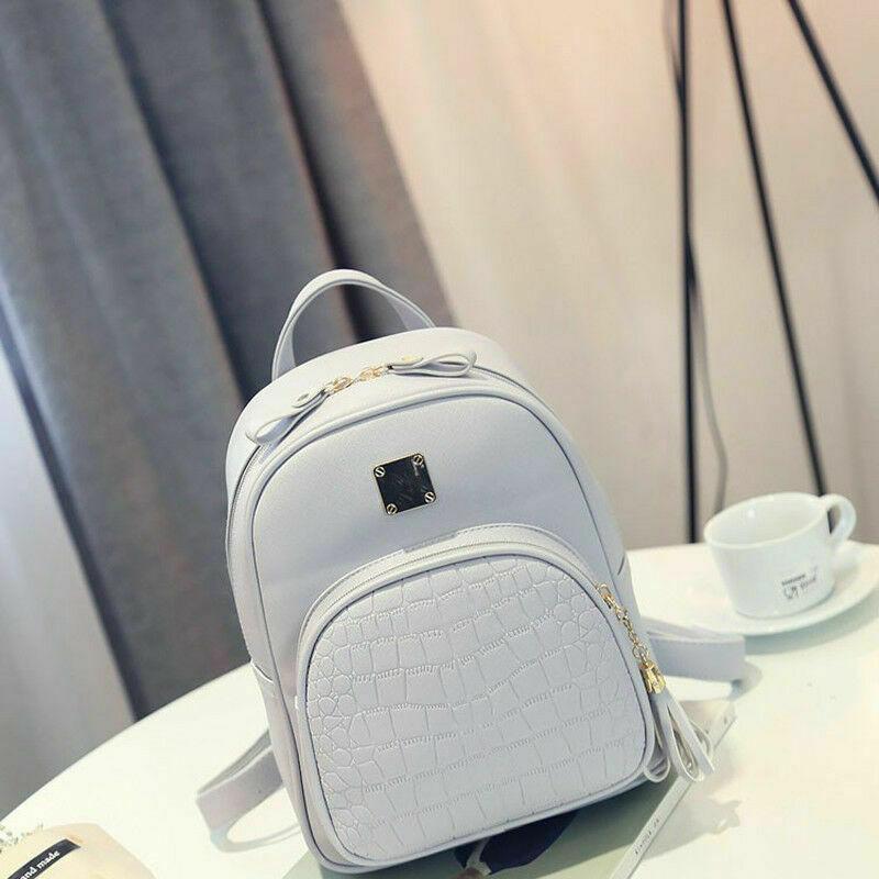 Women PU Leather Shoulder Bags Ladies Backpack Handbag Messenger Tote Rucksack