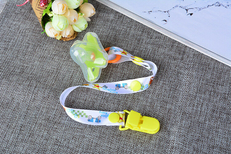 Cartoon Dummy Smoother Toy Chain Holder Suspender Soother Chain With Clips