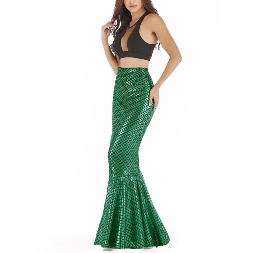 Women Mermaid Tail Skirts High Waist Bodycon Summer Evening Party Fancy Dress
