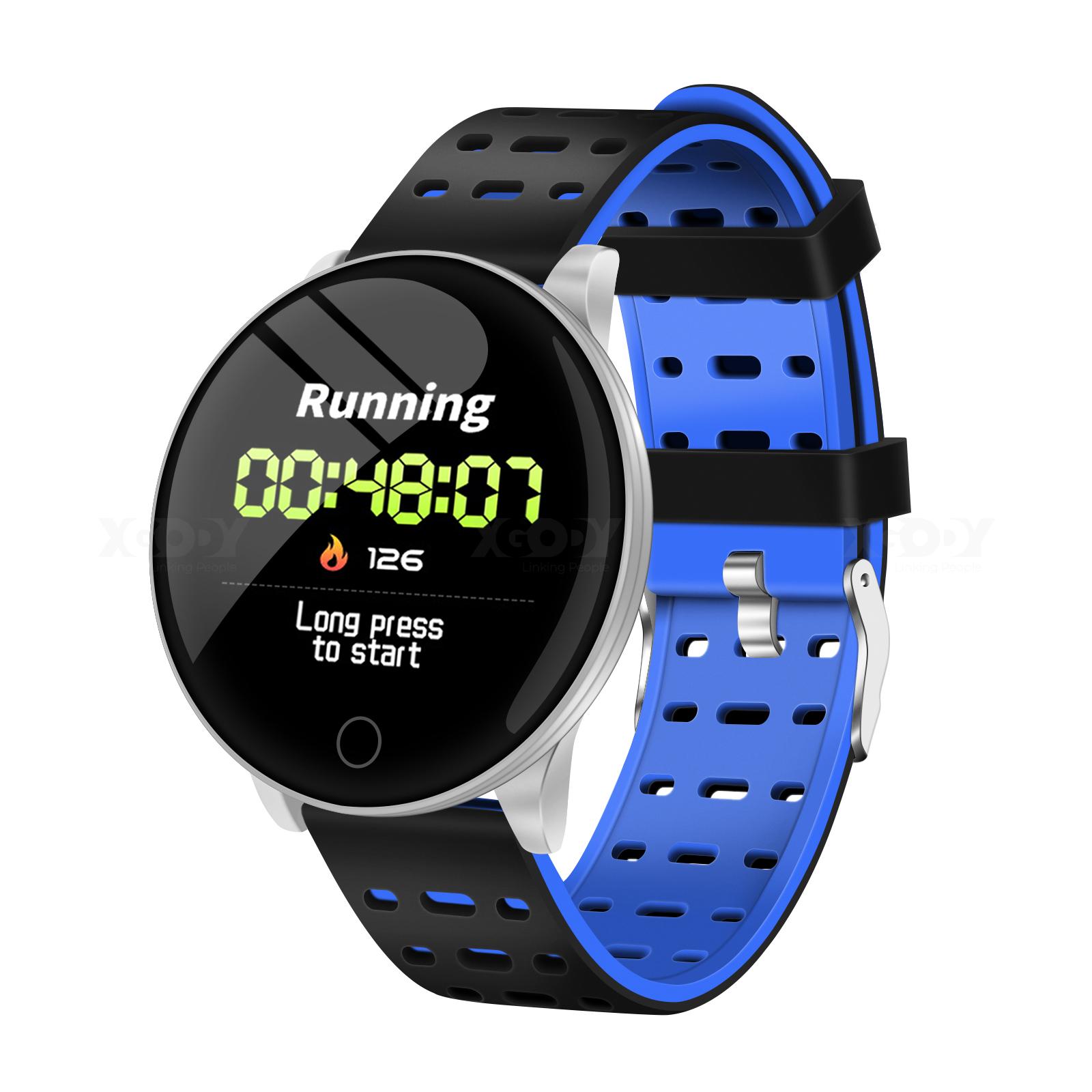 XGODY Bluetooth Smartwatch IP67 Sportuhr Fitness Tracker Damen Herren Armband DE