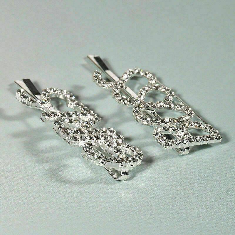 Women Diamante Slogan Silver Hair Clip Slide Hair Pin Hair Accessory UK SELLER