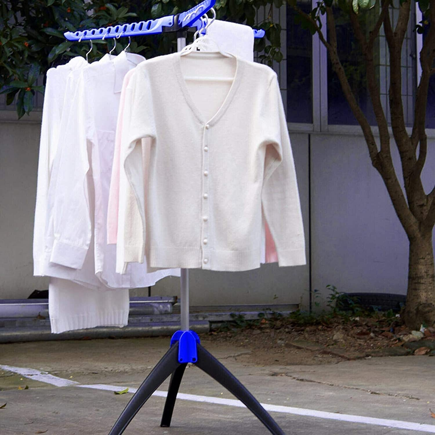 Foldable Clothes Airer 3 Arms Tripod Horse Drying Rack Laundry Hanging Garment