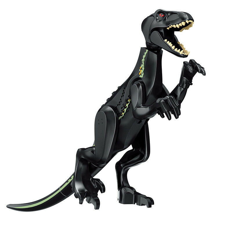 UK Large Rex Jurassic World Park Dinosaur Figure Blocks T-Rex Rex Toys Fit Lego