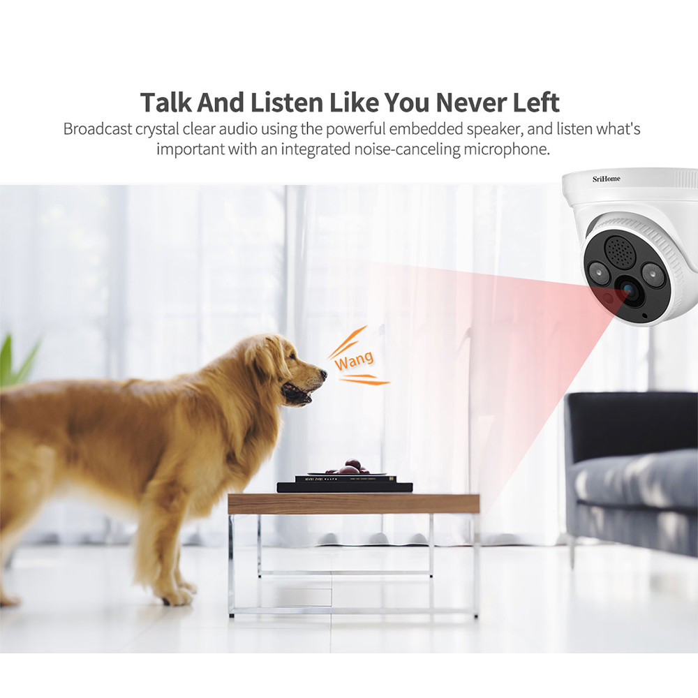 Sricam Wireless WIFI IP Kamera 1296P Überwachungskamera 3MP Nachtsicht Babyphone