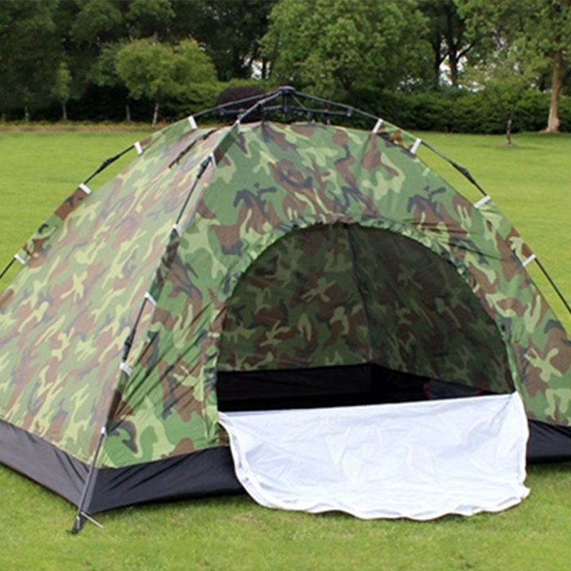 Details about 1 4 Person Outdoor Camping Tent Waterproof Instant Pop Up Hiking Tent Camouflage