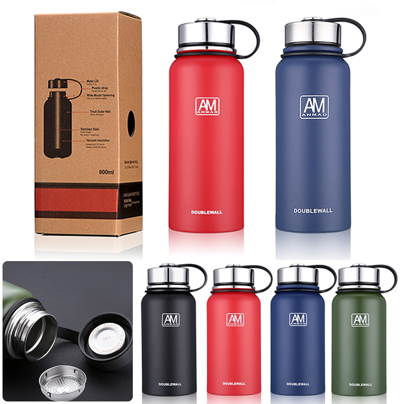 Vacuum Insulated Stainless Steel Double-Wall Water Bottle Sport Bottles BPA Free