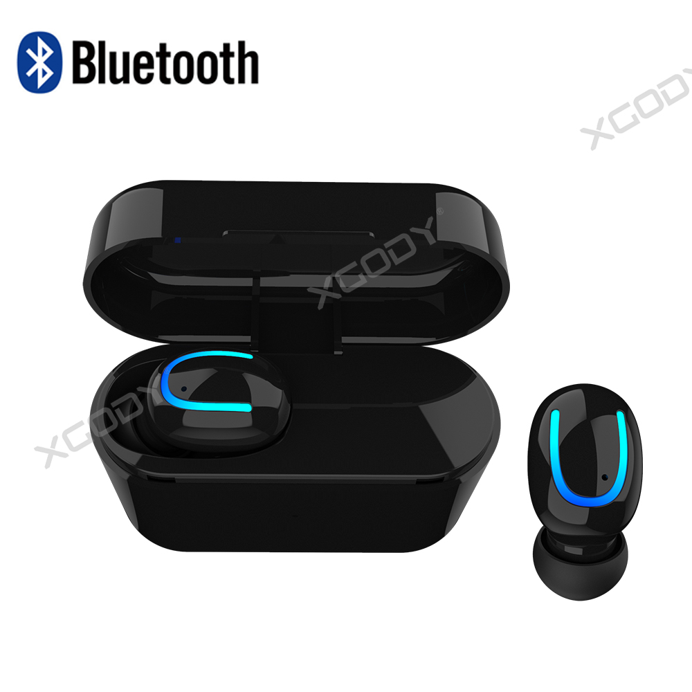 Ecouteur-Bluetooth-Sans-Fil-Stereo-Oreillette-Pr-iPhone-Samsung-Recharge-Station miniature 13