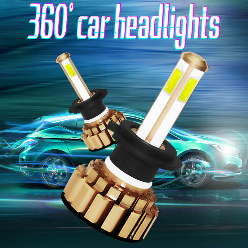 H7-260W-48000LM-COB-LED-Phare-de-Voiture-Conversion-Ampoule-Feu-Headlight-Blanc