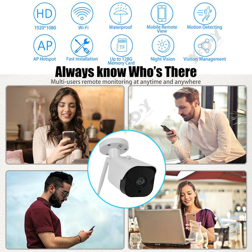 1080P-Wifi-IP-Camera-de-Surveillance-Sans-fil-Vision-Nuit-Securite-Exterieur miniature 7
