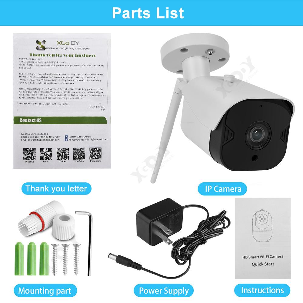1080P-Wifi-IP-Camera-de-Surveillance-Sans-fil-Vision-Nuit-Securite-Exterieur miniature 11