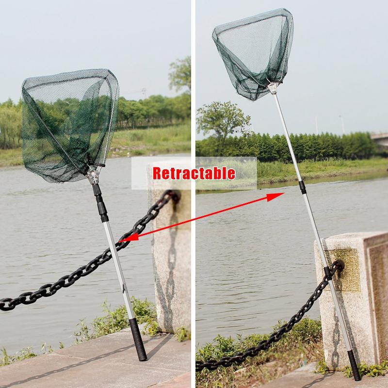 Lightweigh Landing Net Telescopic Folding Fishing Pole Extending Fly Carp Course