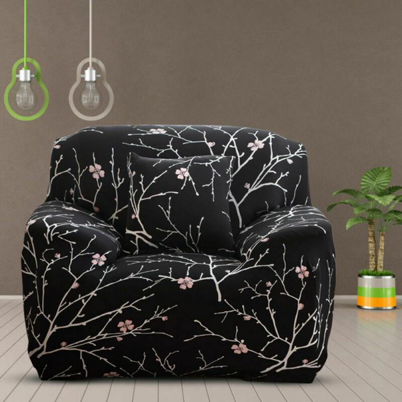 Housse-de-Canape-Extensible-Couverture-Chaise-Spandex-Elastique-Coussin-Couvre miniature 25