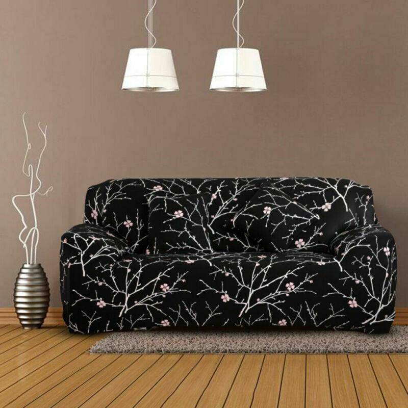 Housse-de-Canape-Extensible-Couverture-Chaise-Spandex-Elastique-Coussin-Couvre miniature 28