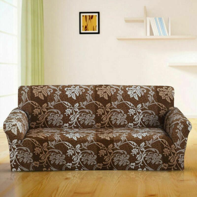 Housse-de-Canape-Extensible-Couverture-Chaise-Spandex-Elastique-Coussin-Couvre miniature 34