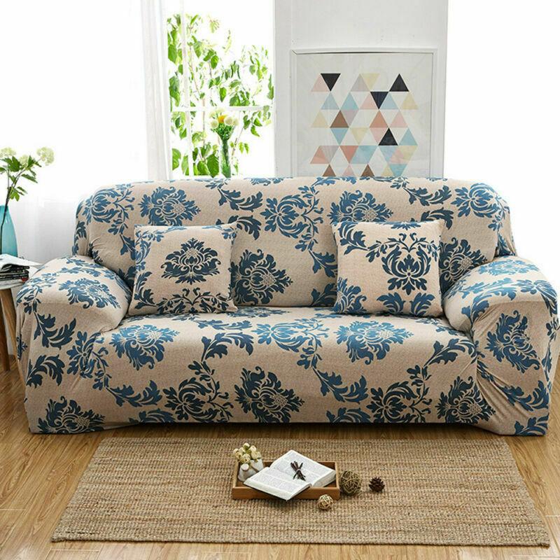 Housse-de-Canape-Extensible-Couverture-Chaise-Spandex-Elastique-Coussin-Couvre miniature 42