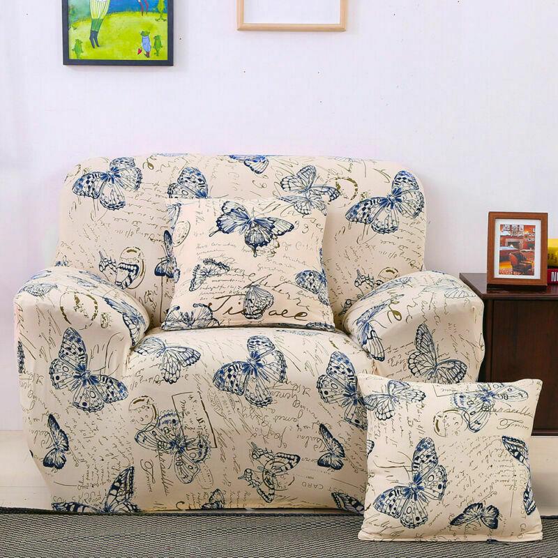 Housse-de-Canape-Extensible-Couverture-Chaise-Spandex-Elastique-Coussin-Couvre miniature 51