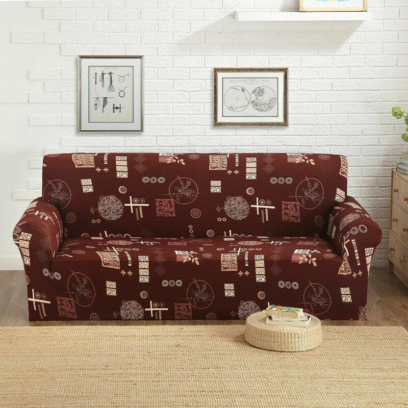 Housse-de-Canape-Extensible-Couverture-Chaise-Spandex-Elastique-Coussin-Couvre miniature 60