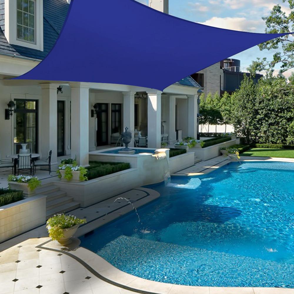 miniatura 7 - 2M 3M 4M Tenda a vela quadrata ombreggiante telo da sole ombra giardino parasole