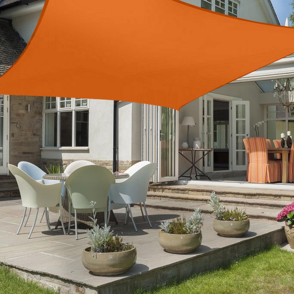miniatura 8 - 2M 3M 4M Tenda a vela quadrata ombreggiante telo da sole ombra giardino parasole