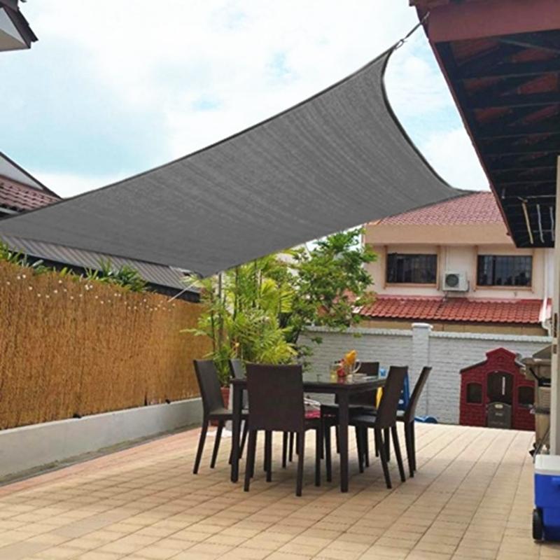 miniatura 9 - 2M 3M 4M Tenda a vela quadrata ombreggiante telo da sole ombra giardino parasole