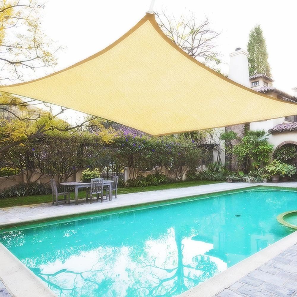 miniatura 10 - 2M 3M 4M Tenda a vela quadrata ombreggiante telo da sole ombra giardino parasole