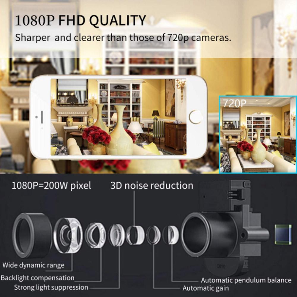 1080P HD WIFI Innen IP Kamera Überwachungskamera PTZ IR