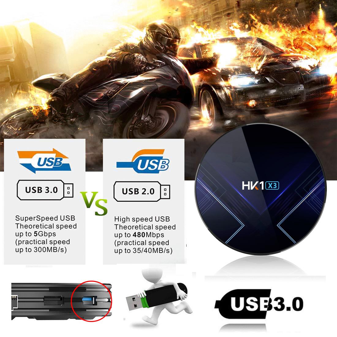 Indexbild 4 - HK1 X3 8K 4+128G Android 9.0 5G WIFI BT Smart TV BOX Amlogic HDMI Media Player