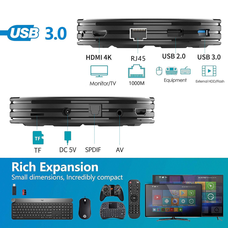 Indexbild 6 - HK1 X3 8K 4+128G Android 9.0 5G WIFI BT Smart TV BOX Amlogic HDMI Media Player