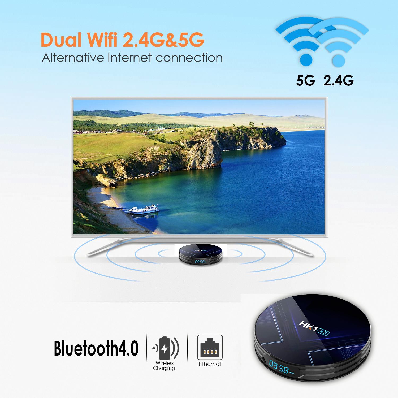 Indexbild 9 - HK1 X3 8K 4+128G Android 9.0 5G WIFI BT Smart TV BOX Amlogic HDMI Media Player