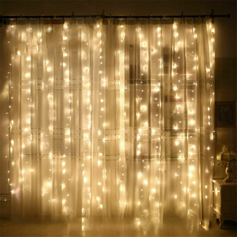 thumbnail 12 - 3Mx3M LED Curtain Fairy String Lights In/Outdoor Controller Window Wedding Decor