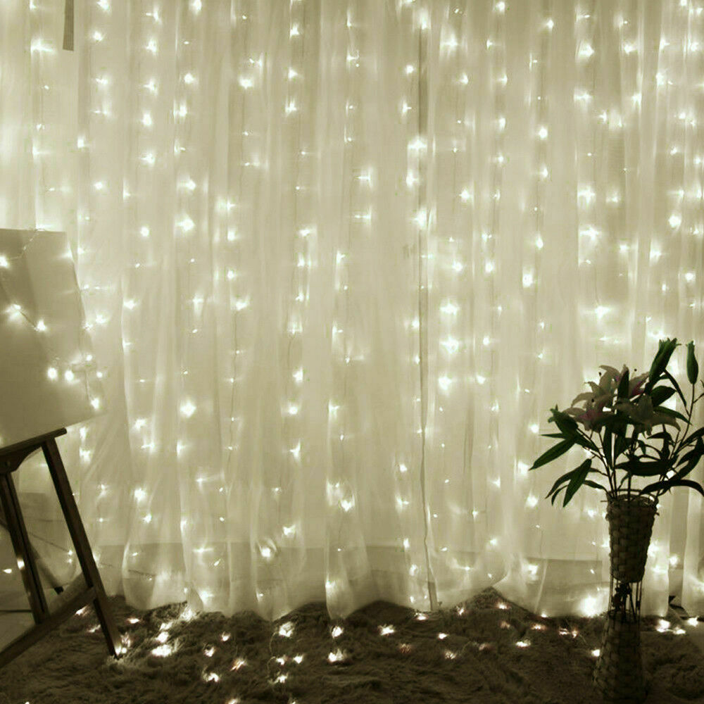 thumbnail 14 - 3Mx3M LED Curtain Fairy String Lights In/Outdoor Controller Window Wedding Decor