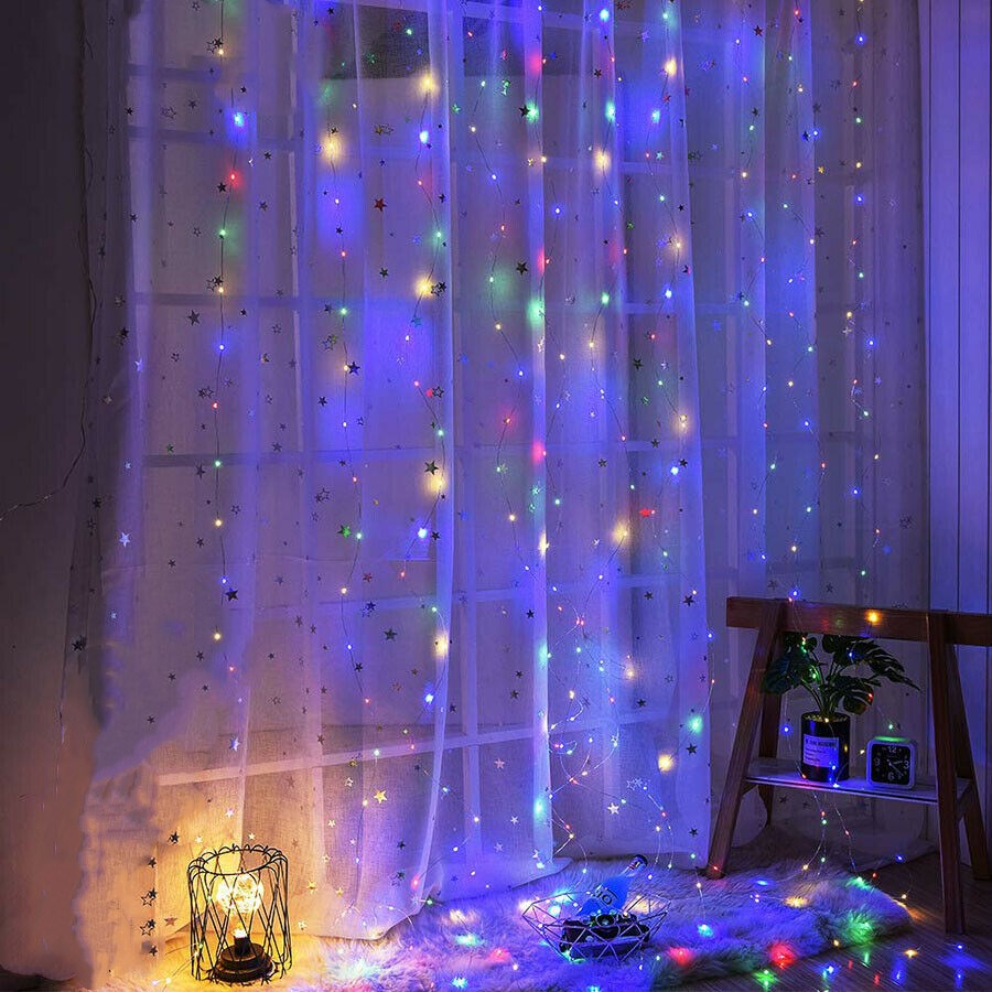 thumbnail 16 - 3Mx3M LED Curtain Fairy String Lights In/Outdoor Controller Window Wedding Decor