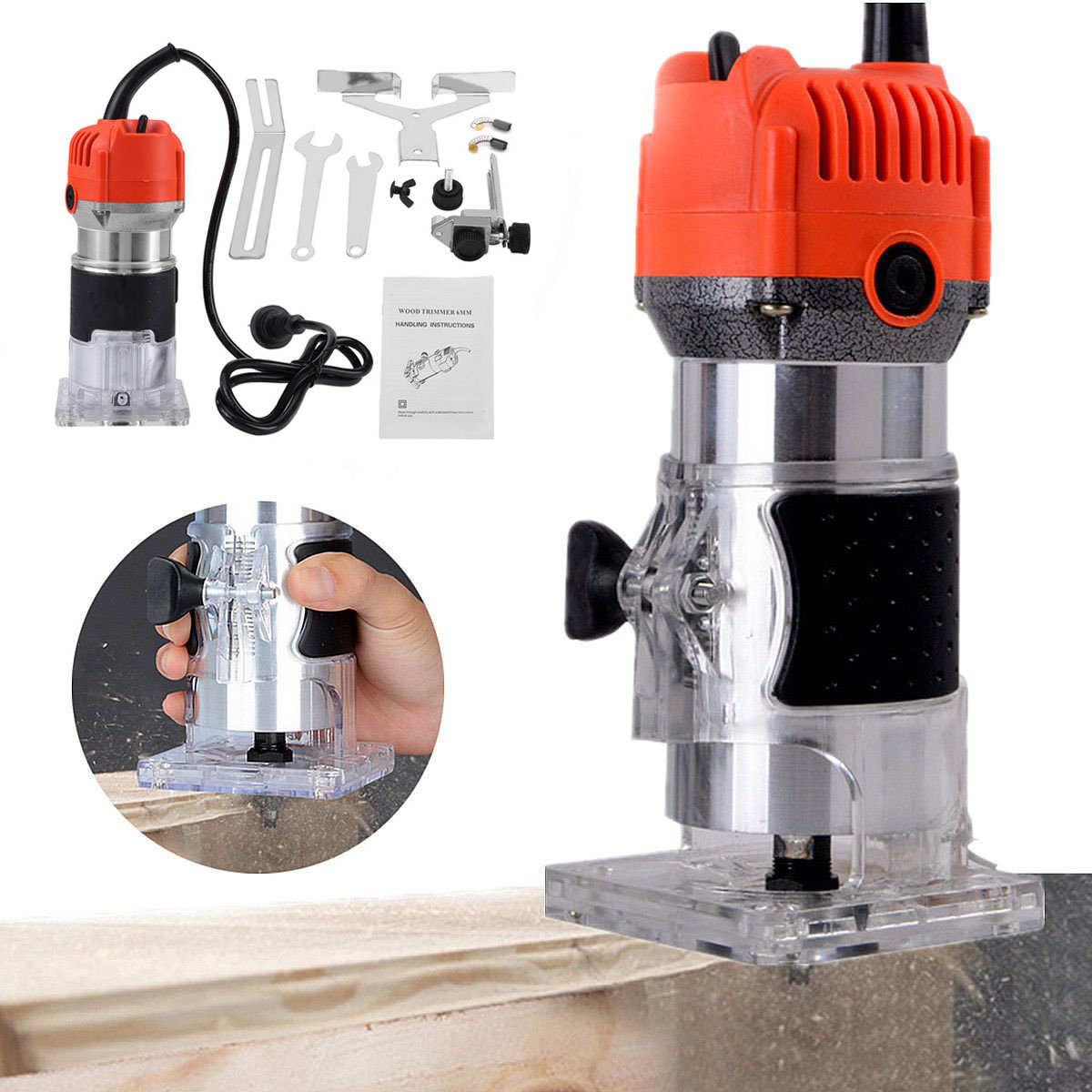 Electric Hand Trimmer Palm Router Wood Laminator Joiner Jointer Wooden Tool UK eBay