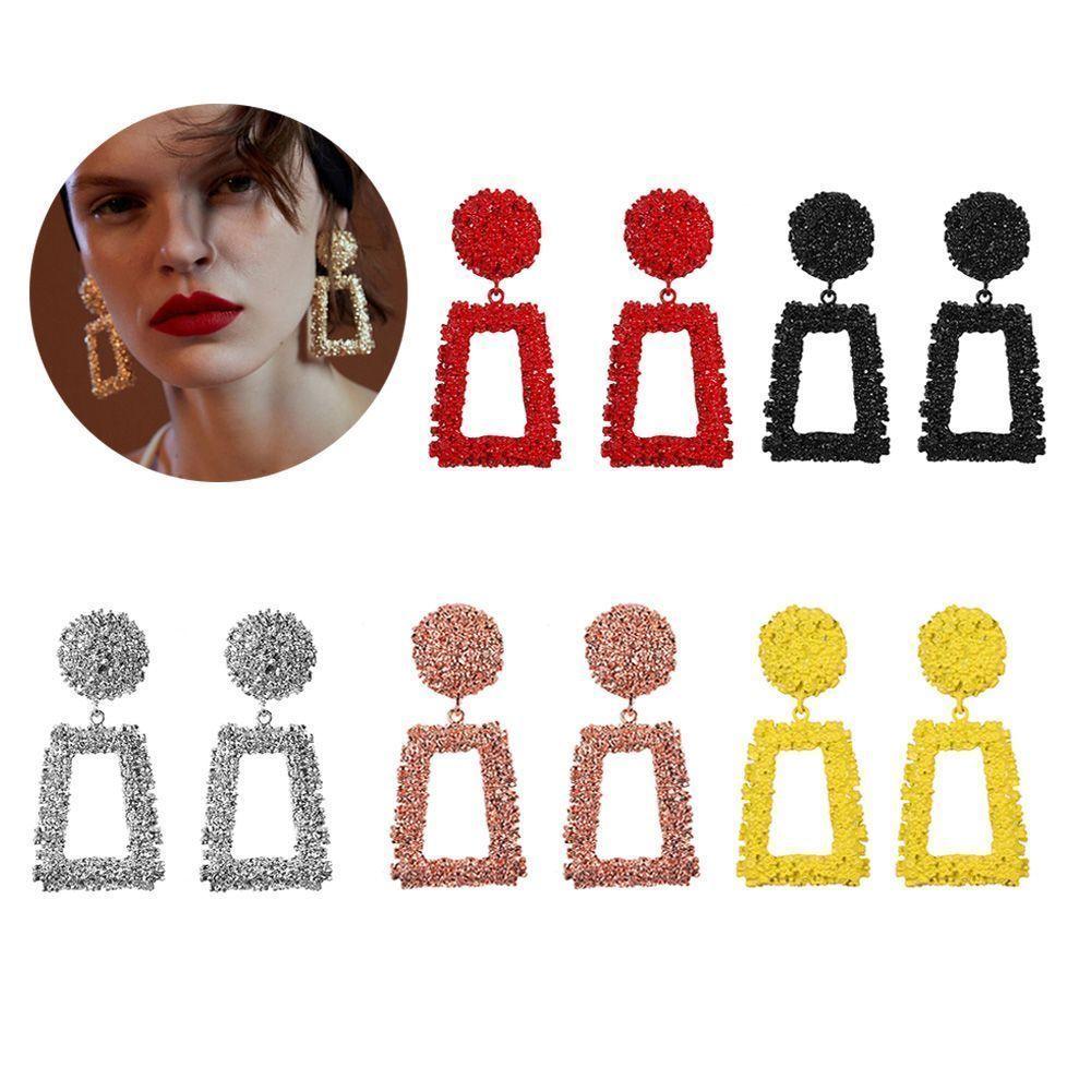 Trendy Punk Jewelry Metal Statement Dangle Drop Earrings Big Gold Geometric NEW 4