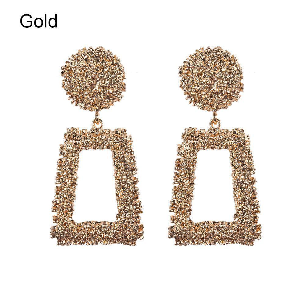 Trendy Punk Jewelry Metal Statement Dangle Drop Earrings Big Gold Geometric NEW 5